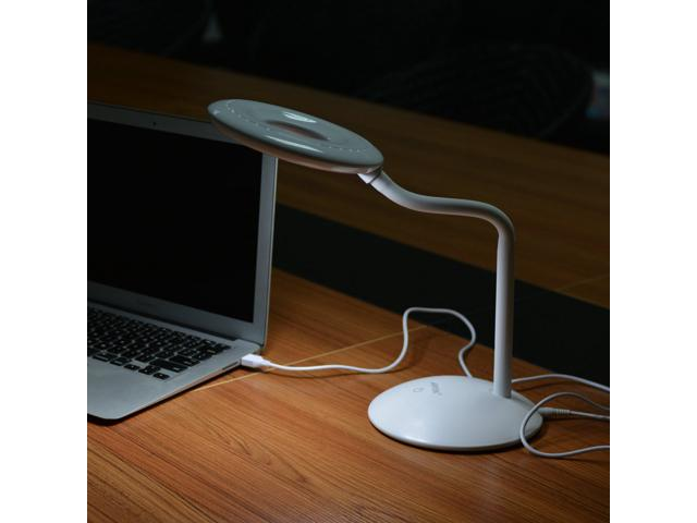 3-Level Adjustable Brightness USB Rechargeable Desk Table Light Eye Protection LED Book Lamp for Laptop PC Computer 8W by