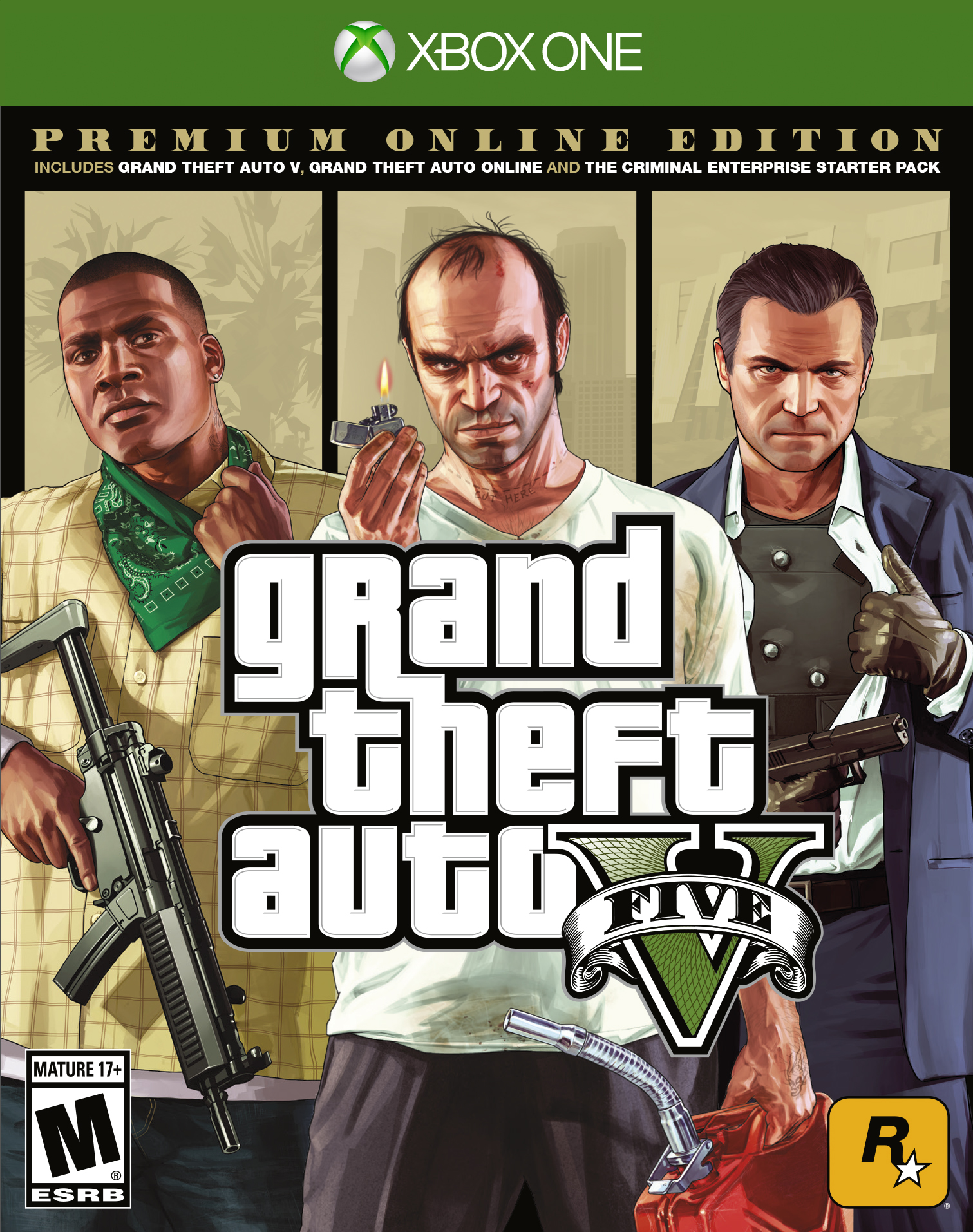 Grand Theft Auto V: Premium Online Edition, Rockstar Games, Xbox One, 710425590337