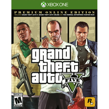 Grand Theft Auto V: Premium Online Edition, Rockstar Games, Xbox One, (Best Games To Play On Xbox One)