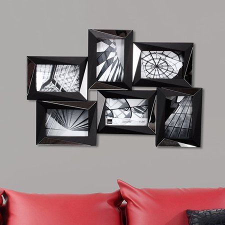 Mira Mirrored 15x225 Wall Collage Frame Walmartcom