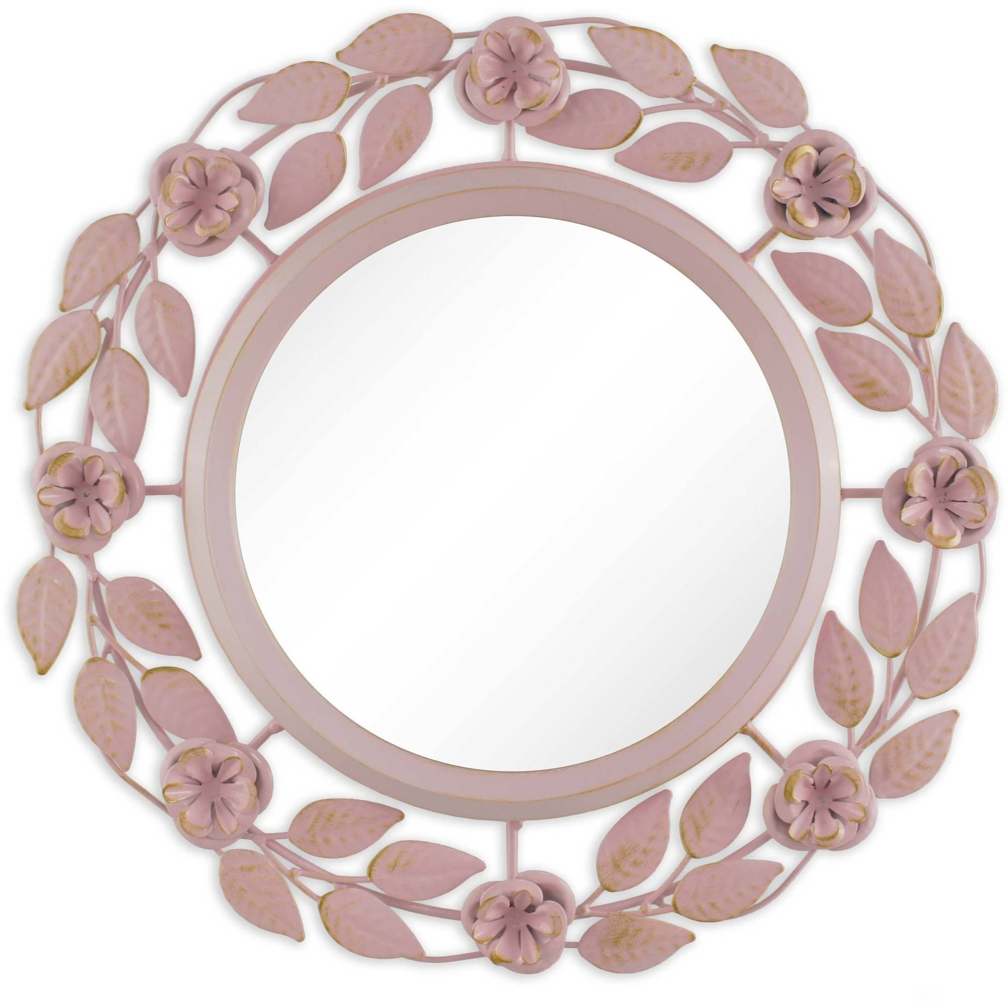 "Better Homes and Gardens 14"" (35.56 cm) Floral Wreath Metal Mirror by"