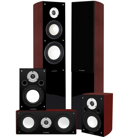 Fluance XL5HTB High Performance 5.0 Surround Sound Home Theater Speaker System Including Three-way... by
