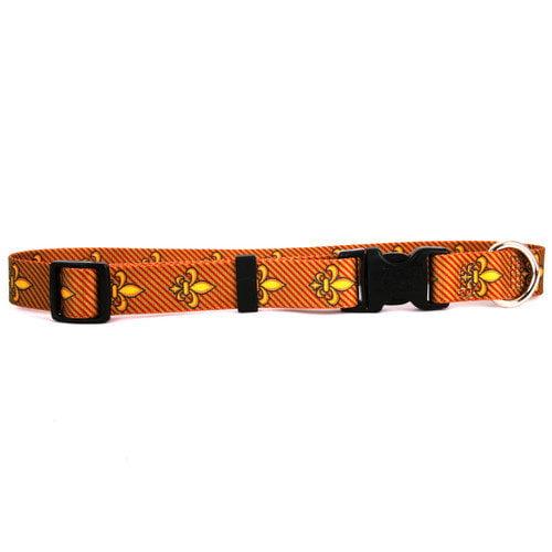 Yellow Dog Design FDLR103L Fleur de Lis Red Standard Collar - Large