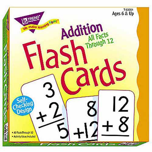 Trend Enterprises Flash Cards Addition All Facts Through 12