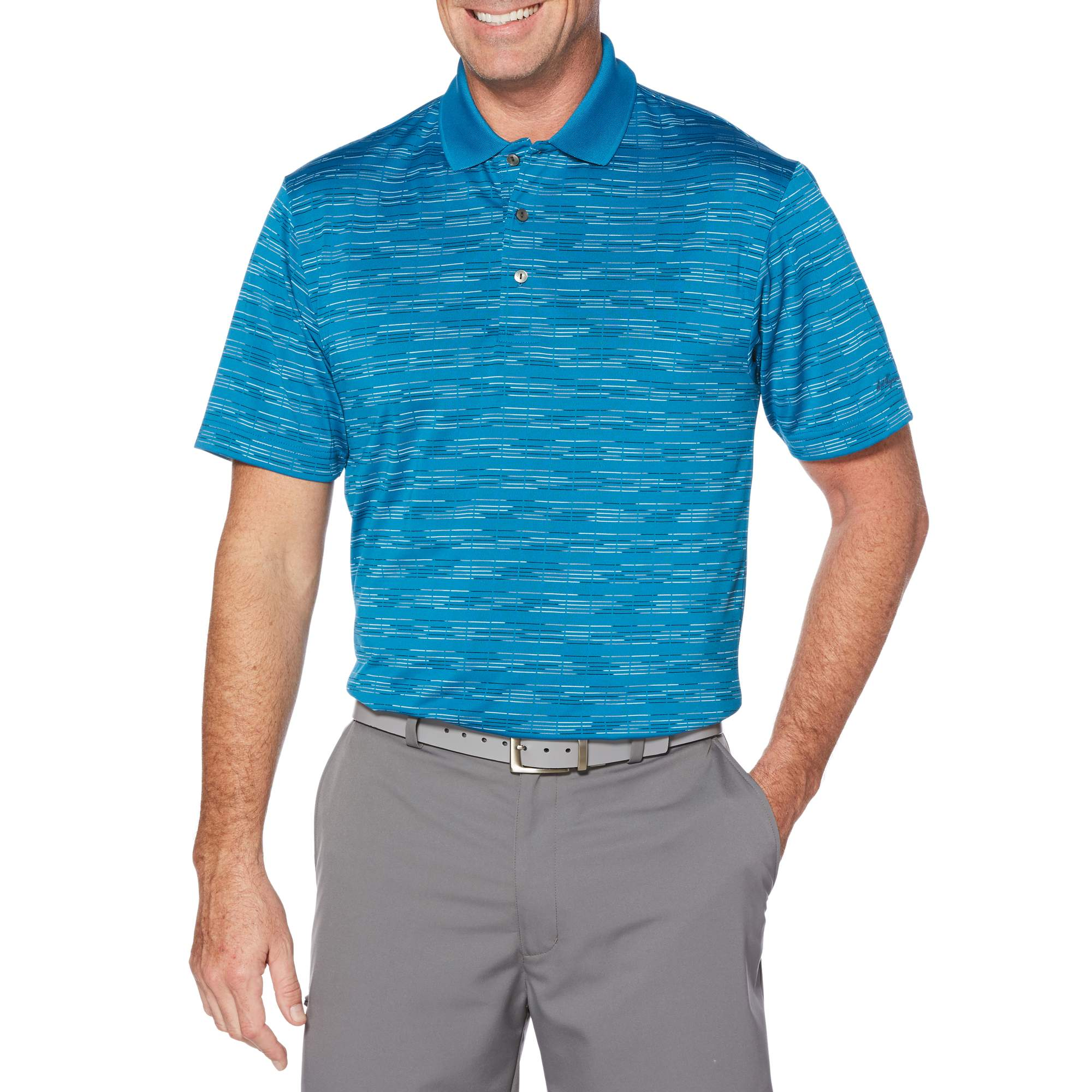 Men's Performance Short Sleeve Jacquard Golf Polo by
