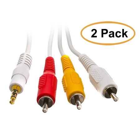 C&E 3.5mm AV Audio Video Cable for iPod, 6 Feet, 2 Pack