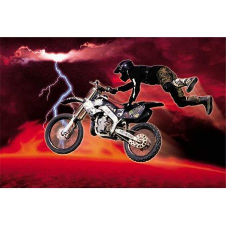 Hot Stuff 2393-24x36-CB Motor Cross Red Poster