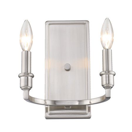 Pewter Wall Mounted Sconce (Ellyn 2 Light Wall Sconce in Pewter )