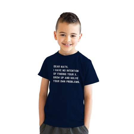 Youth Solve Your Own Problems Math T Shirt Funny School Tee for (Death Solves All Problems No Man No Problem)