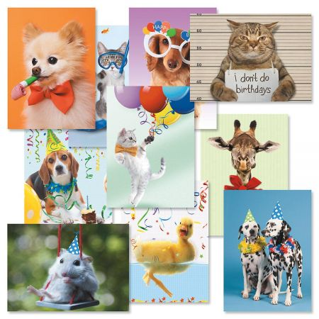 Kids Photo Birthday Cards Value Pack - Set of 20 (2 of each)
