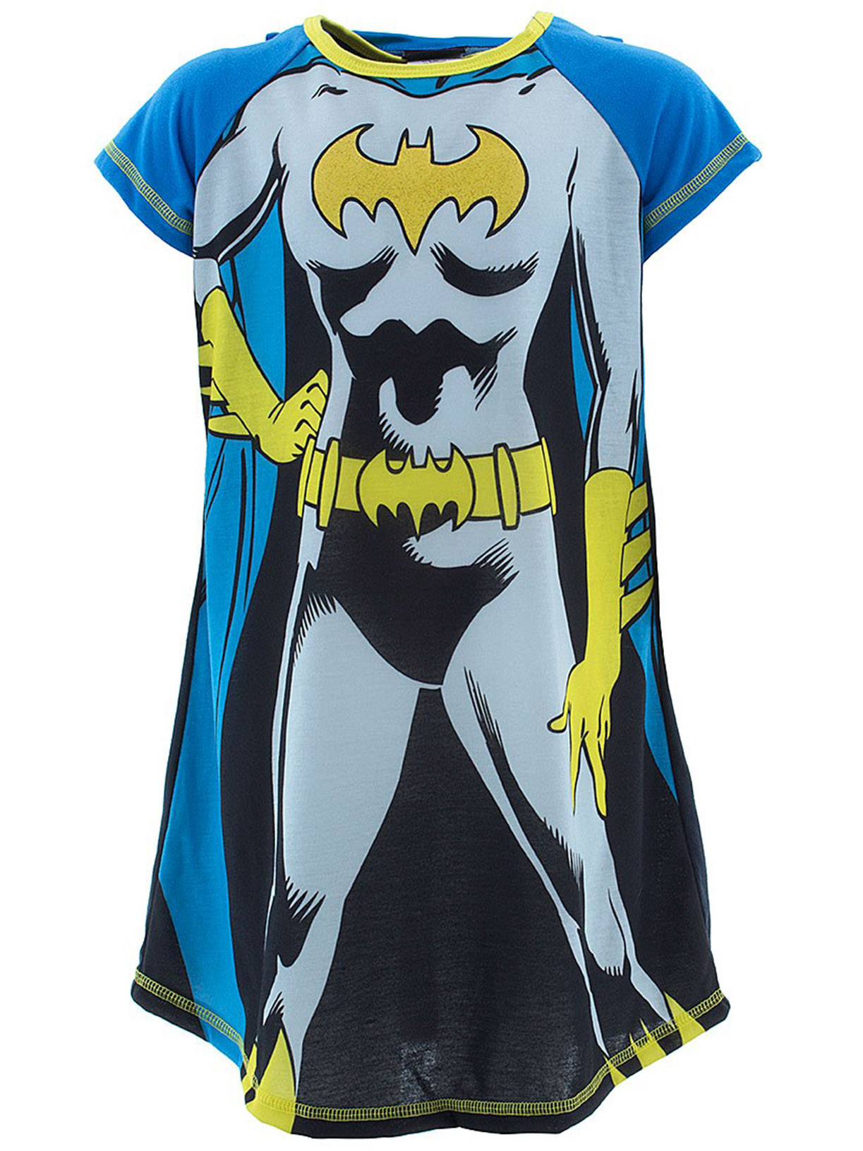 Batgirl Blue Girls Nightshirt with Cape