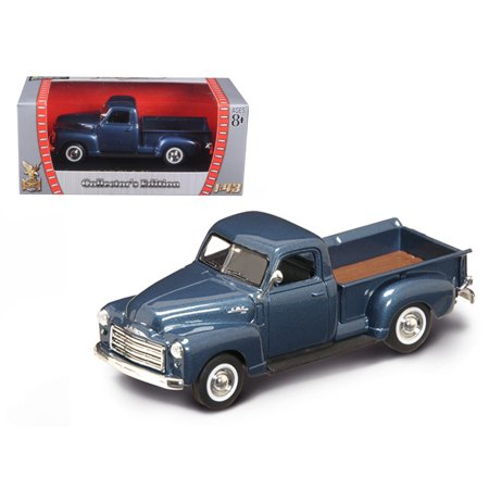 1950 GMC Pickup Truck Dark Blue 1/43 Diecast Model Car by Road (Gmc Denali Trucks)