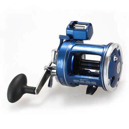 12 Ball Bearings Fishing Trolling Reel with Line Counter Alarm Bell Drum Reel thumbnail