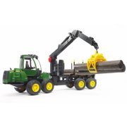 Bruder Toys Forestry John Deere 1210E Forwarder with 4 Trunks and Grab Claw