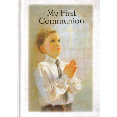 Northlight Seasonal Religious My First Communion Boys Prayer and Remembrance Book Gift