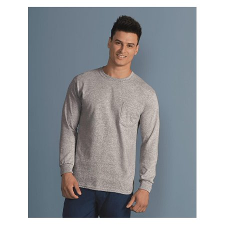 Pocket Sleeves (Gildan T-Shirts - Long Sleeve Ultra Cotton Long Sleeve T-Shirt with a)