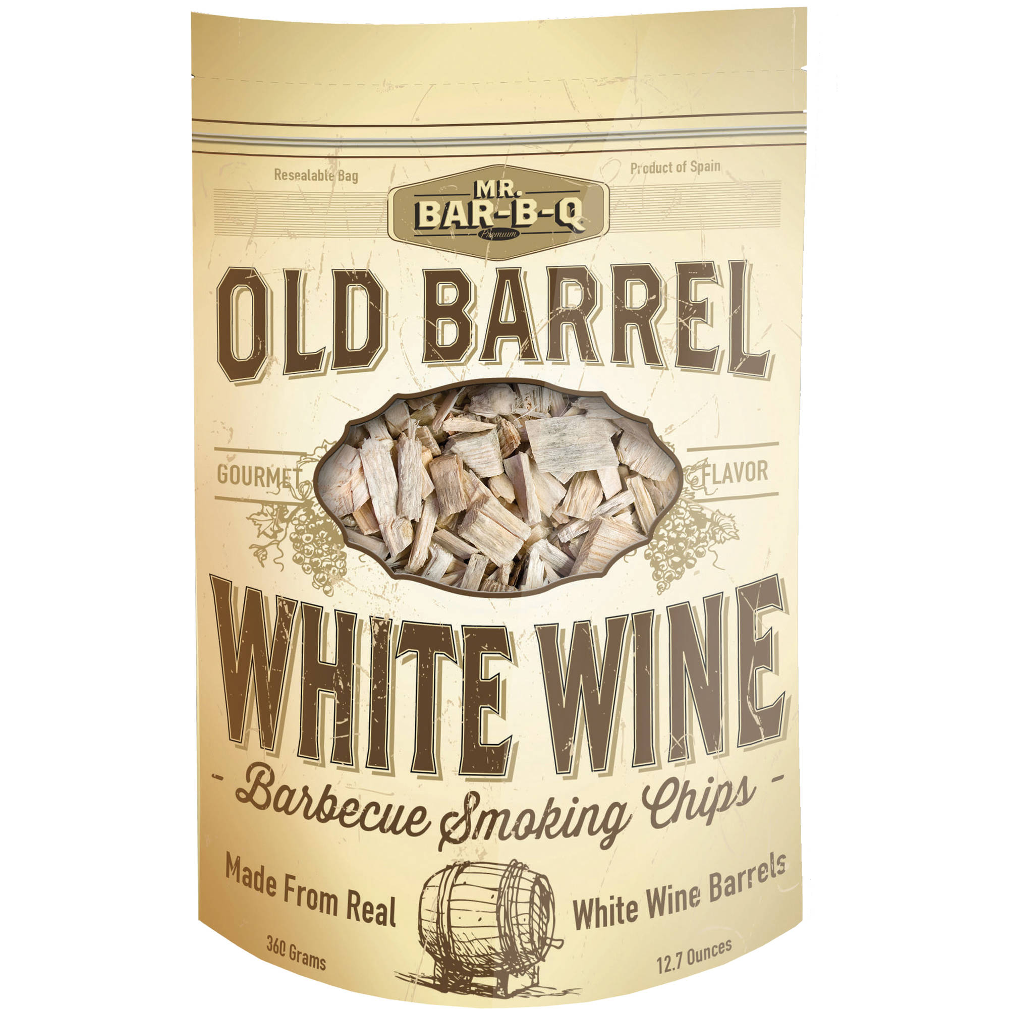 Mr. Bar-B-Q Old Barrel White Wine Barbecue Smoking Chips
