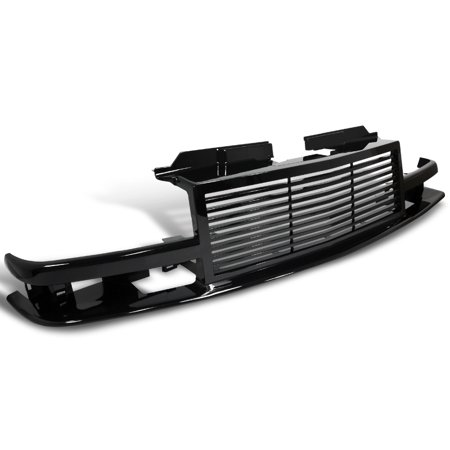 Spec-D Tuning 1998-2004 Chevy S10 Blazer Front Bumper Grill Hood Grille Shinny Black 1998 1999 2000 2001 2002
