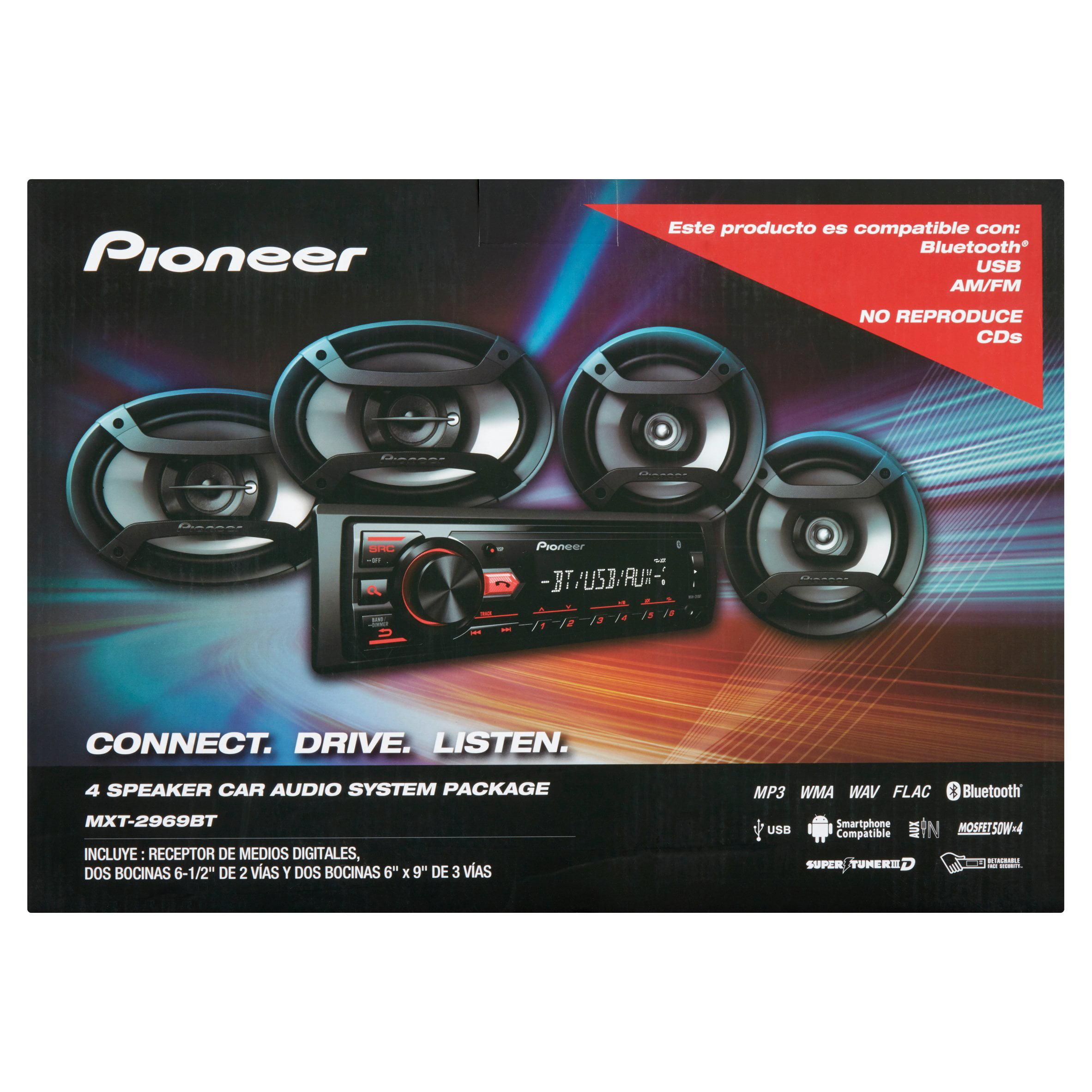 Pioneer 4 Speaker Car Audio System Package - Walmart.com