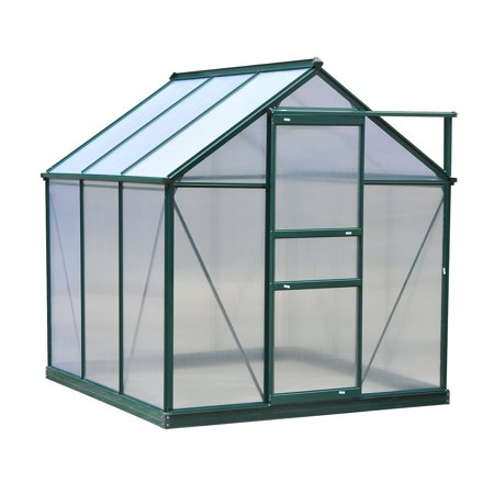 Outsunny Polycarbonate Portable Walk-In Garden Greenhouse (Polycarbonate Greenhouse)