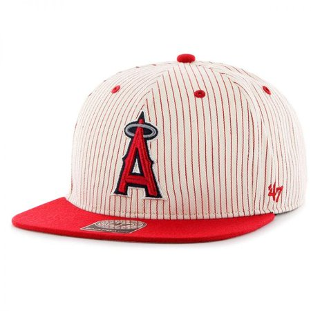 47 Brand Los Angeles Angels of Anaheim MLB Woodside Stripe Snapback Baseball Cap SIZE: ADJ by