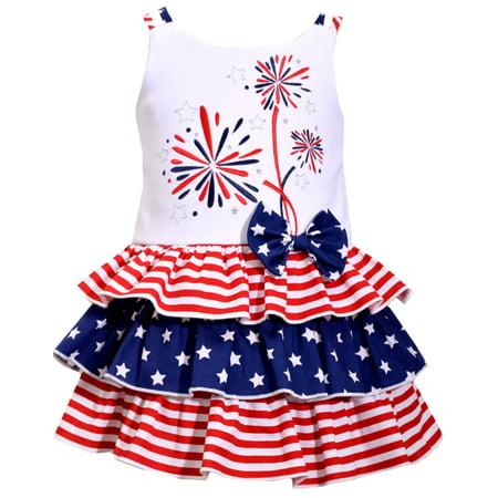 964bfa9e24513 Bonnie Jean Toddler or Girls 4th of July Fireworks Dress 3T