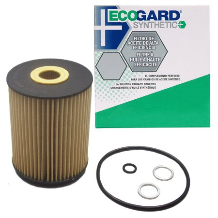 ECOGARD S5545 Cartridge Engine Oil Filter for Synthetic Oil - Premium Replacement Fits Volkswagen Touareg, Jetta, Golf, Passat, EuroVan / Audi Q7, A8 Quattro, S8 / Porsche Cayenne