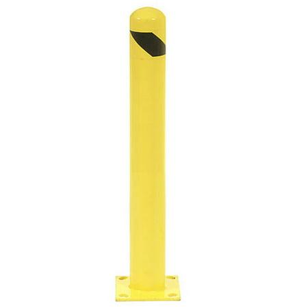 Round Bollard - 24 Inch High Round Bollard, Yellow, Lot of 1
