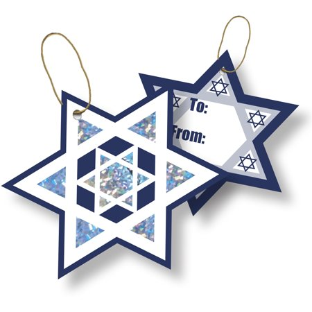 Jillson & Roberts Gift Tags with Tie String, Shield of David (100 Pcs) Jillson & Roberts Gift Tags with Tie String, Shield of David (100 Pcs)