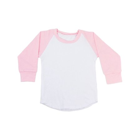 Light Pink Skirt (Unisex Baby Light Pink Two Tone Long Sleeve Raglan Baseball T-Shirt)