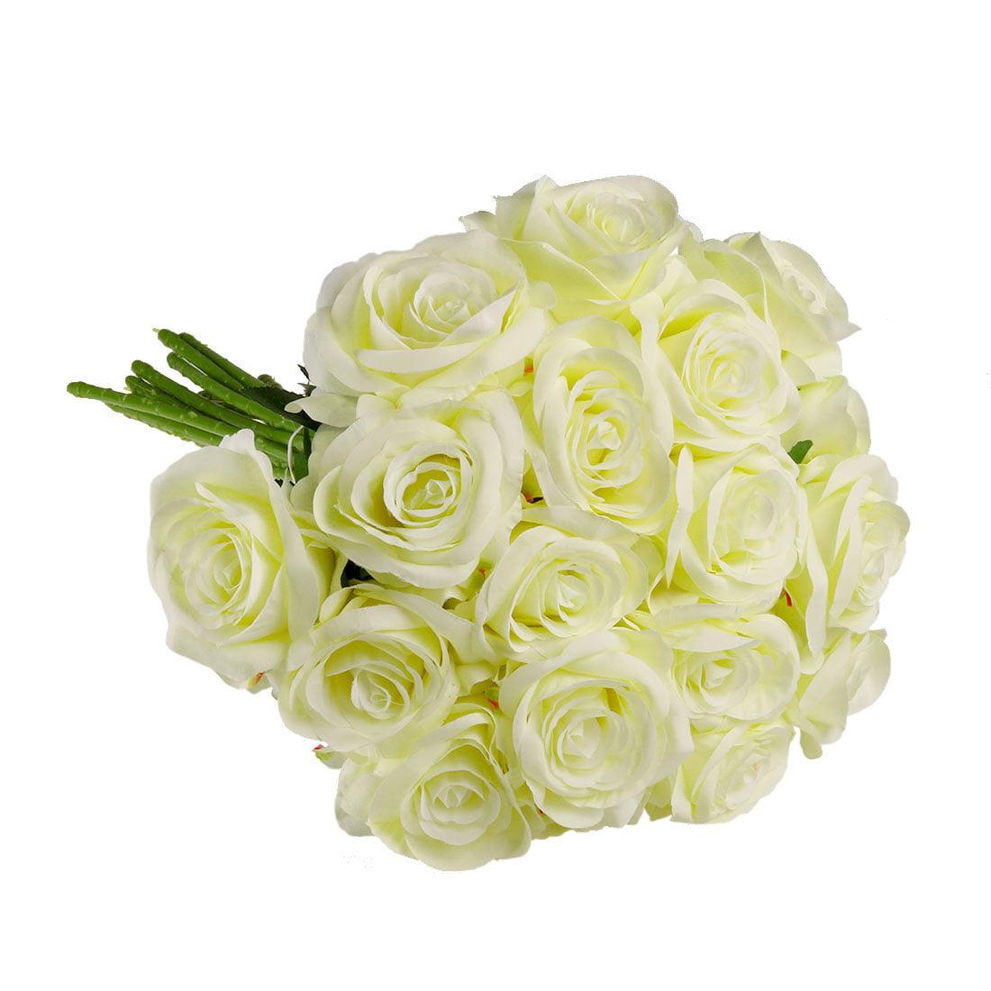 Artificial Silk Rose Flower Bouquet Wedding Party Home Decor