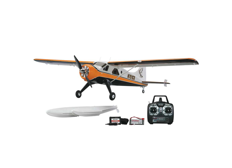 Flyzone Beaver DHC-2 Ready-To-Fly RC Airplane w Landing Gear Floats Lights FLZA4020 Multi-Colored by HOBBICO