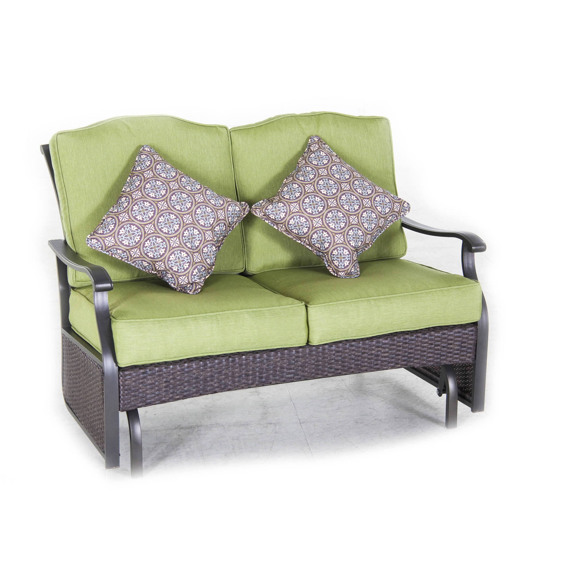 Better Homes And Gardens Providence Outdoor Loveseat Glider Bench, Seats 2    Walmart.com