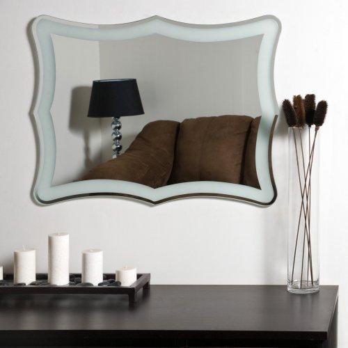 Décor Wonderland Coquette Modern Frameless Bathroom Mirror - 23.6W x 31.5H in.