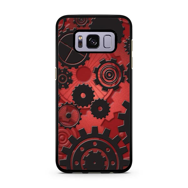 Clockworks Blk On Red Fade Galaxy S8 Case