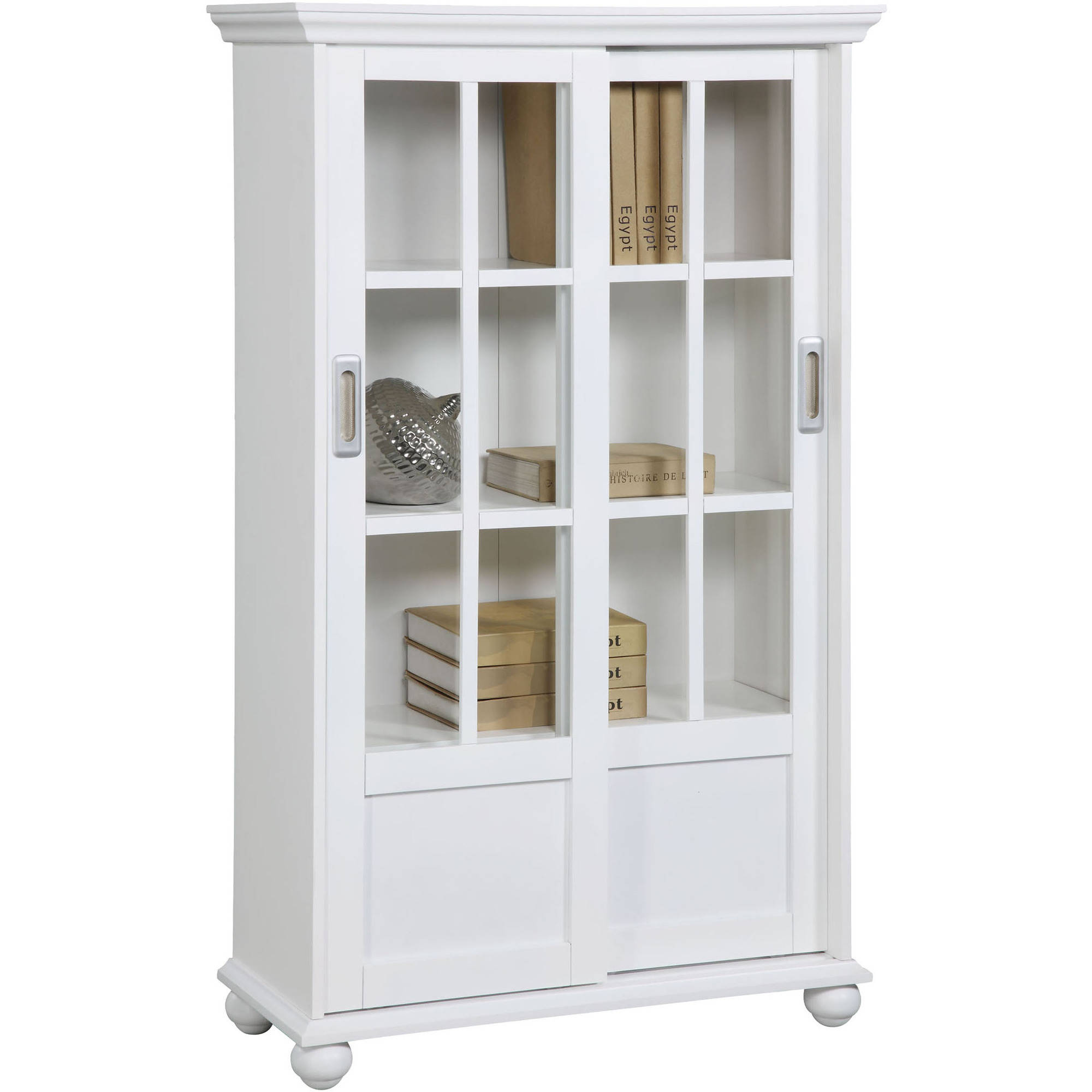 Arron Lane 4-Shelf Sliding Glass Door Bookcase, Multiple Colors -  Walmart.com