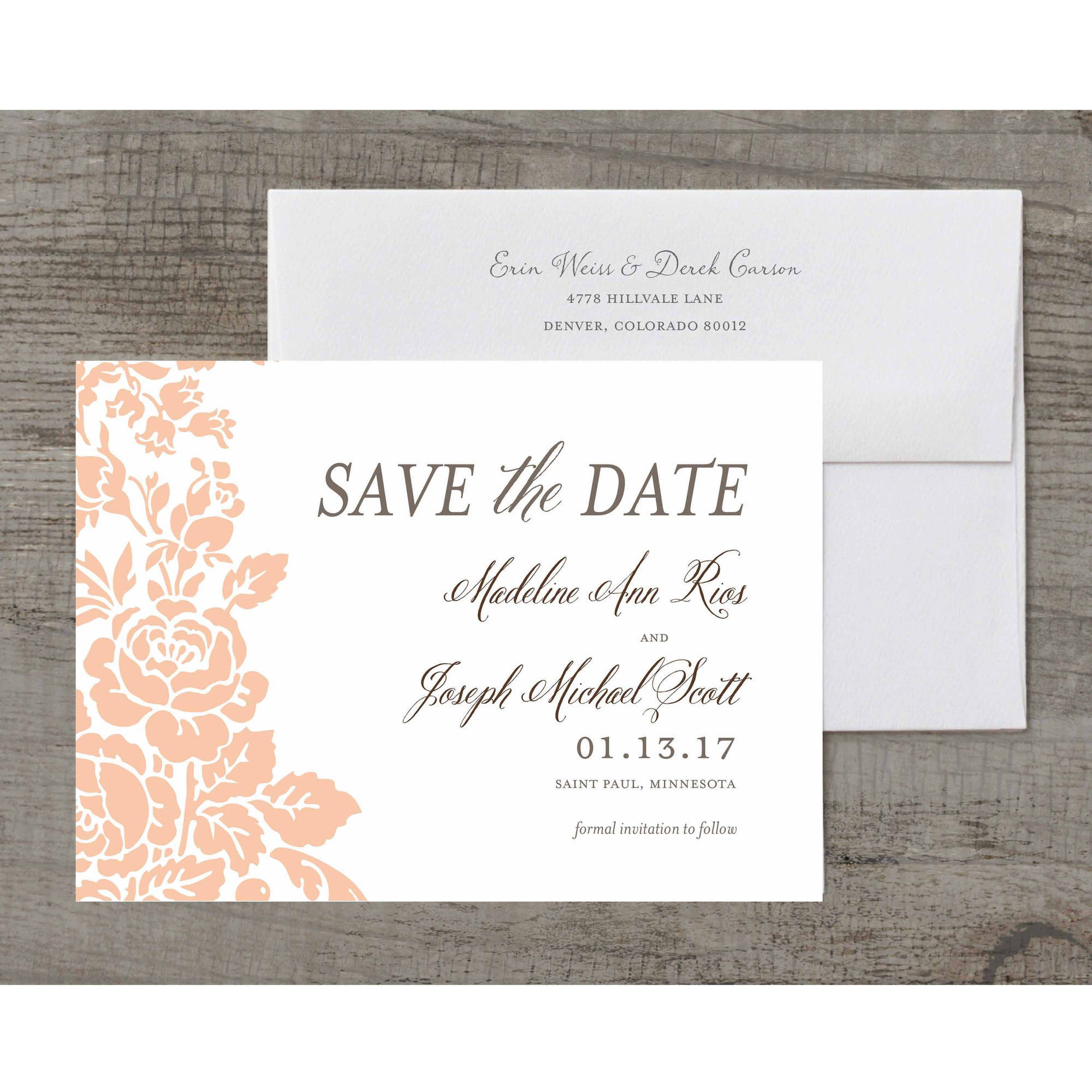 Classic Floral Deluxe Save the Date