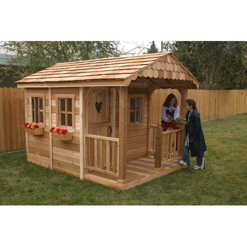 Outdoor Living Today Three Functional Windows and Full Dutch Door for Little Squirt Playhouse Set