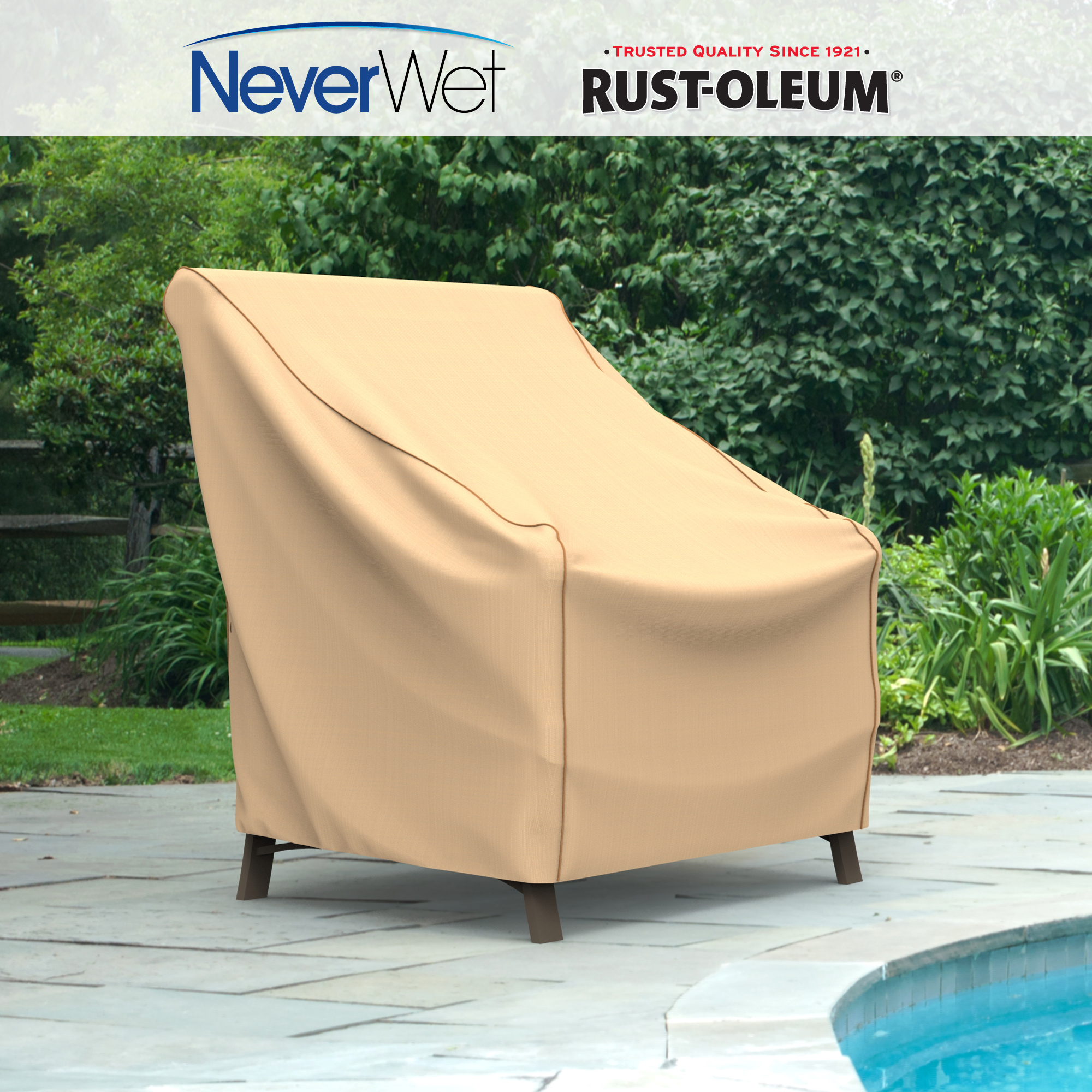 Cover for outdoor furniture Outdoor Lounge Walmart Budge Large Tan Patio Outdoor Chair Cover Neverwet Walmartcom