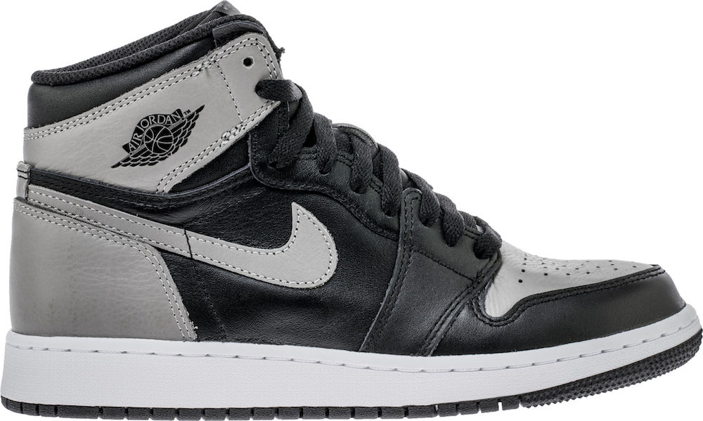 Nike Kids Jordan Retro 1 High OG Shadow Big Kids Basketball Shoes (6.5)