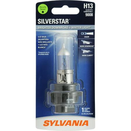 Sylvania H13 SilverStar Auto Halogen Headlight Bulb, Pack of 1.