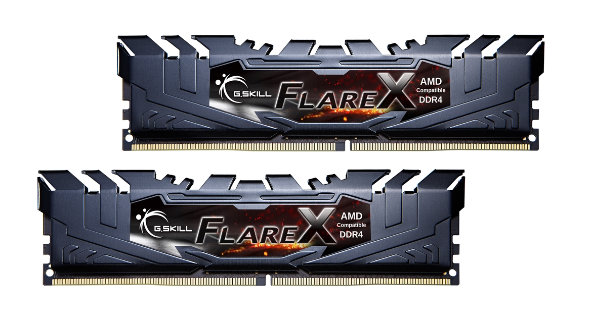 16GB G.Skill Flare X DDR4 2400MHz PC4-19200 for AMD Ryzen CL16 Dual Channel Kit (2x8GB)