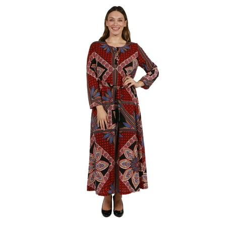 24/7 Comfort Apparel Callie Plus Size Maxi Dress