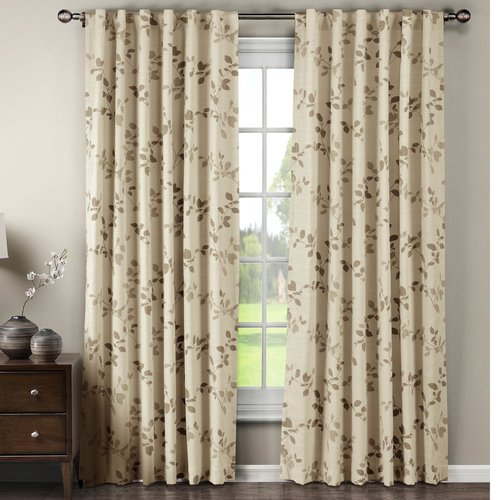 "Meridian Cotton Blend 104"" x 84"" Rod Pocket and Back Tab Curtain Panel Pair by YMF Carpets Inc."