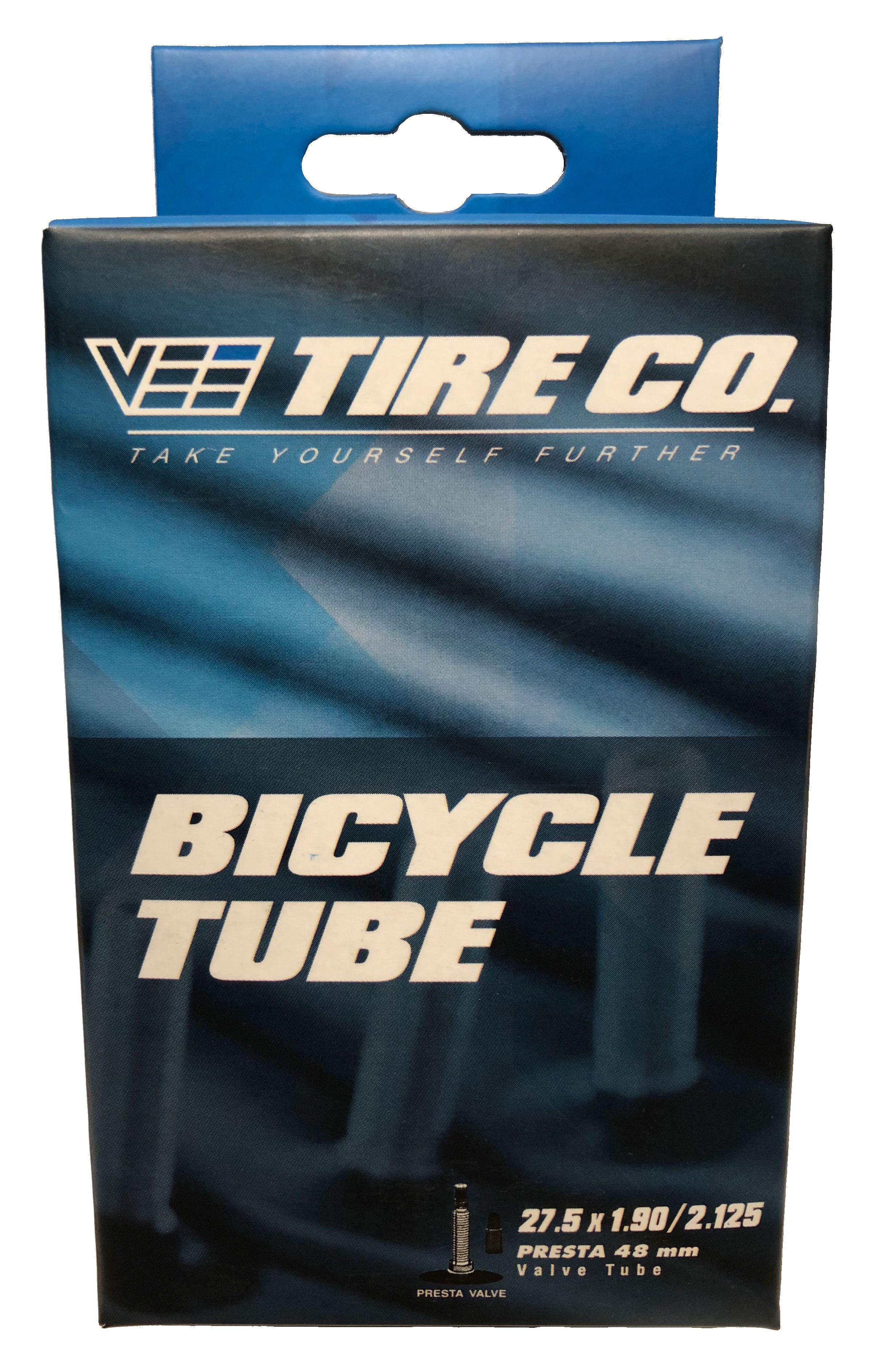 Two 27.5x2.50 Vee Tire Bike Tire Bicycle Inner Tubes 48mm Presta Valve 27.5X2.5