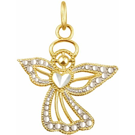 US GOLD 10kt Gold Angel Charm Pendant