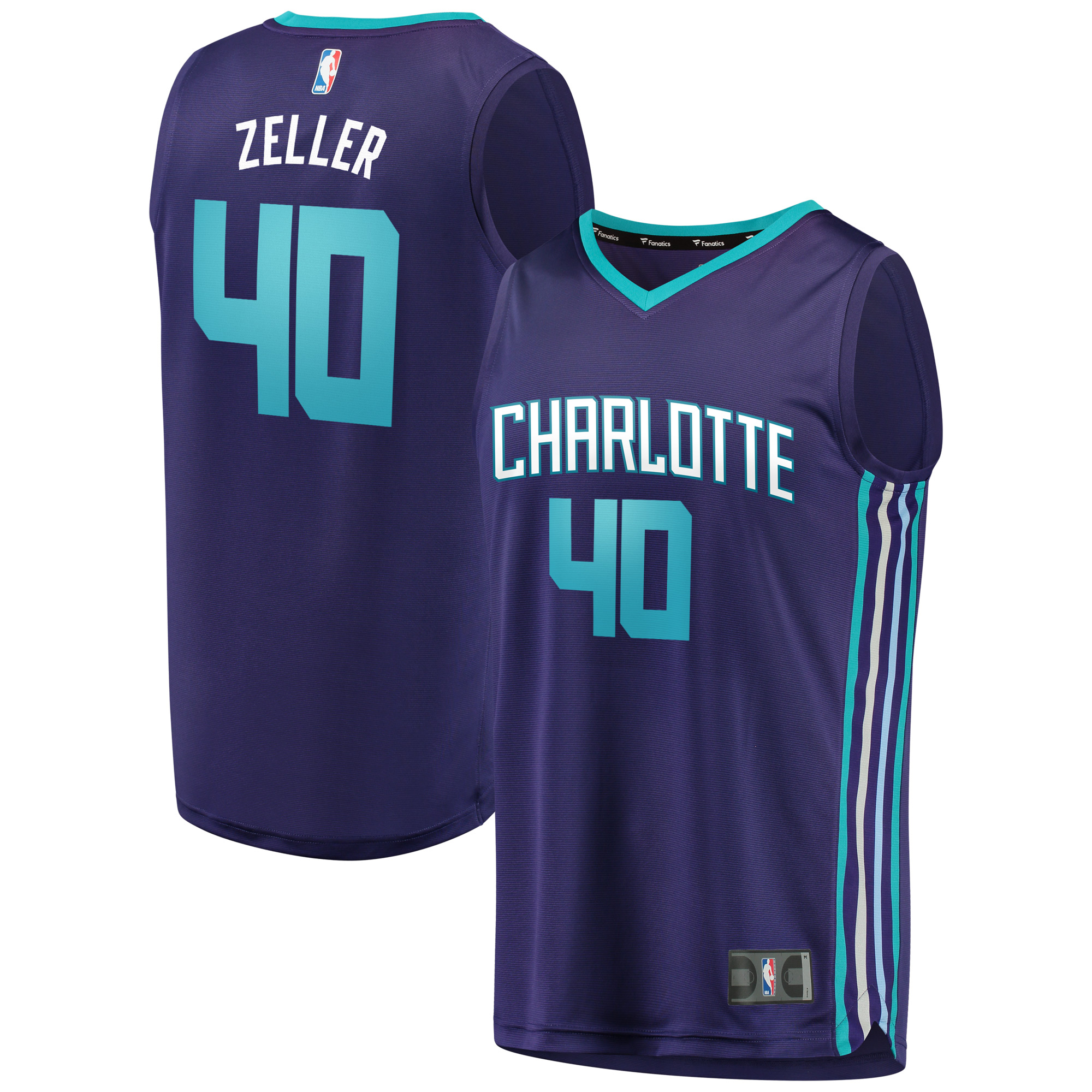 Cody Zeller Charlotte Hornets Fanatics Branded Fast Break Replica Player Jersey - Statement Edition - Purple