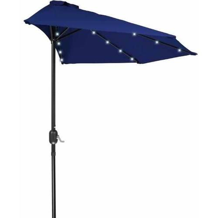 9 39 patio led half umbrella led solar powered by