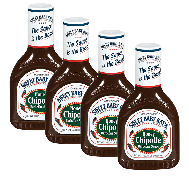 Sweet Baby Ray's Honey Chipotle Barbecue Sauce, 18 oz (4 Pack)