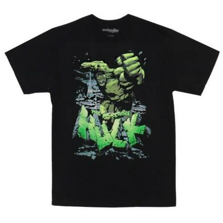 The Incredible Hulk Big Smash Angry Comics Adult T-Shirt